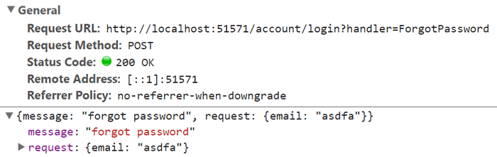 When we add the handler name ForgotPassword a